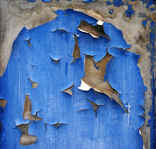 grunge texture wood paint blue