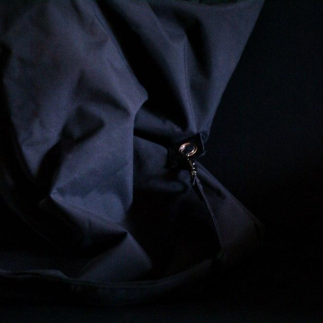 black recycled bag